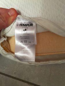 Kissenbezug Etikett