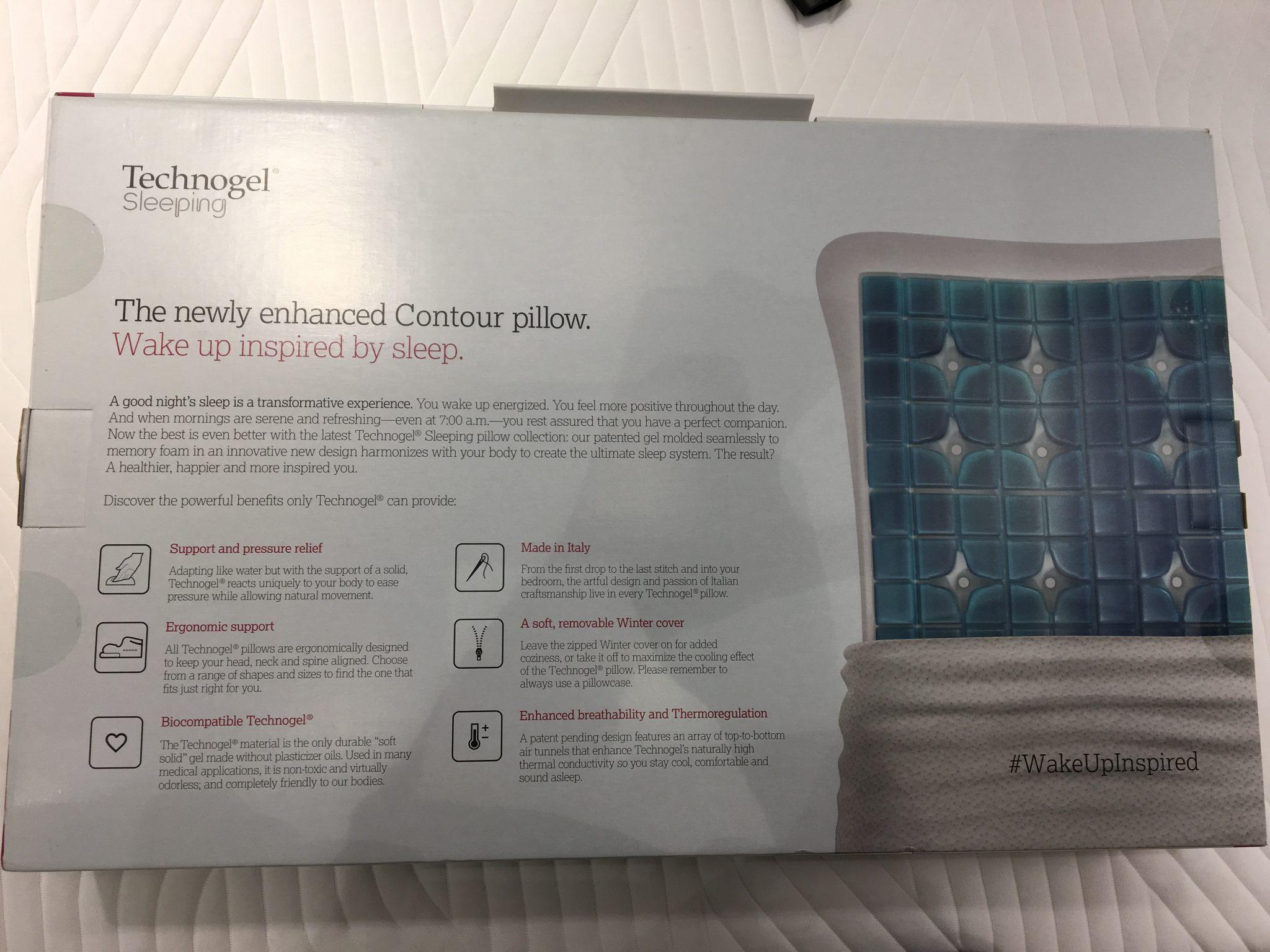 technogel contour packung hinten optimales das beste kopfkissen f r dich. Black Bedroom Furniture Sets. Home Design Ideas